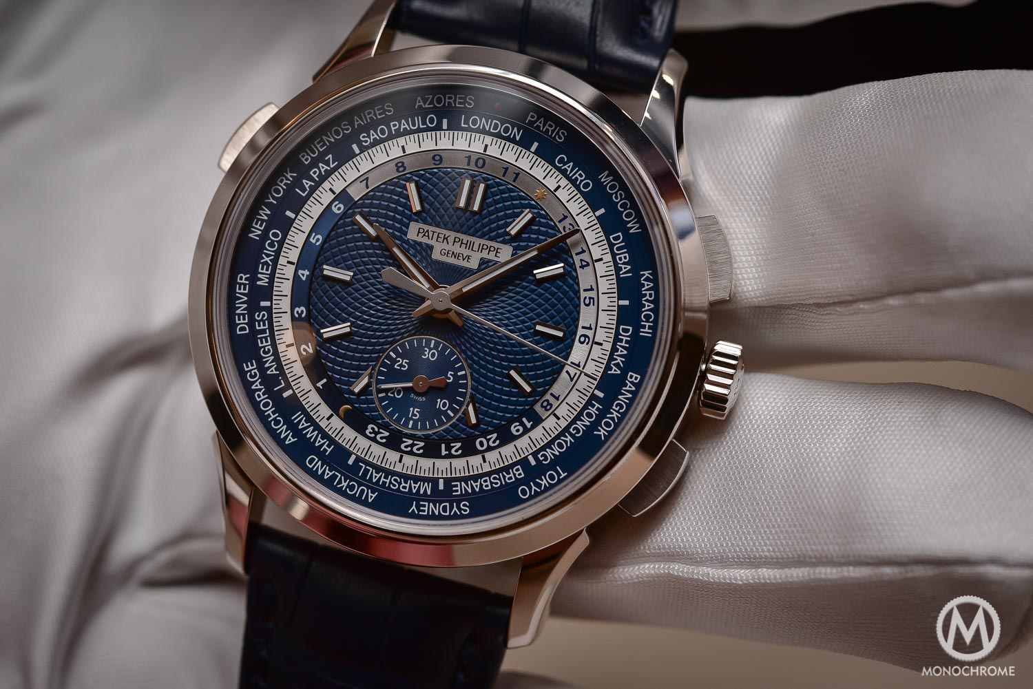 Patek philippe 5930g world time chronograph baselworld 2016 with price monochrome watches for Patek watches