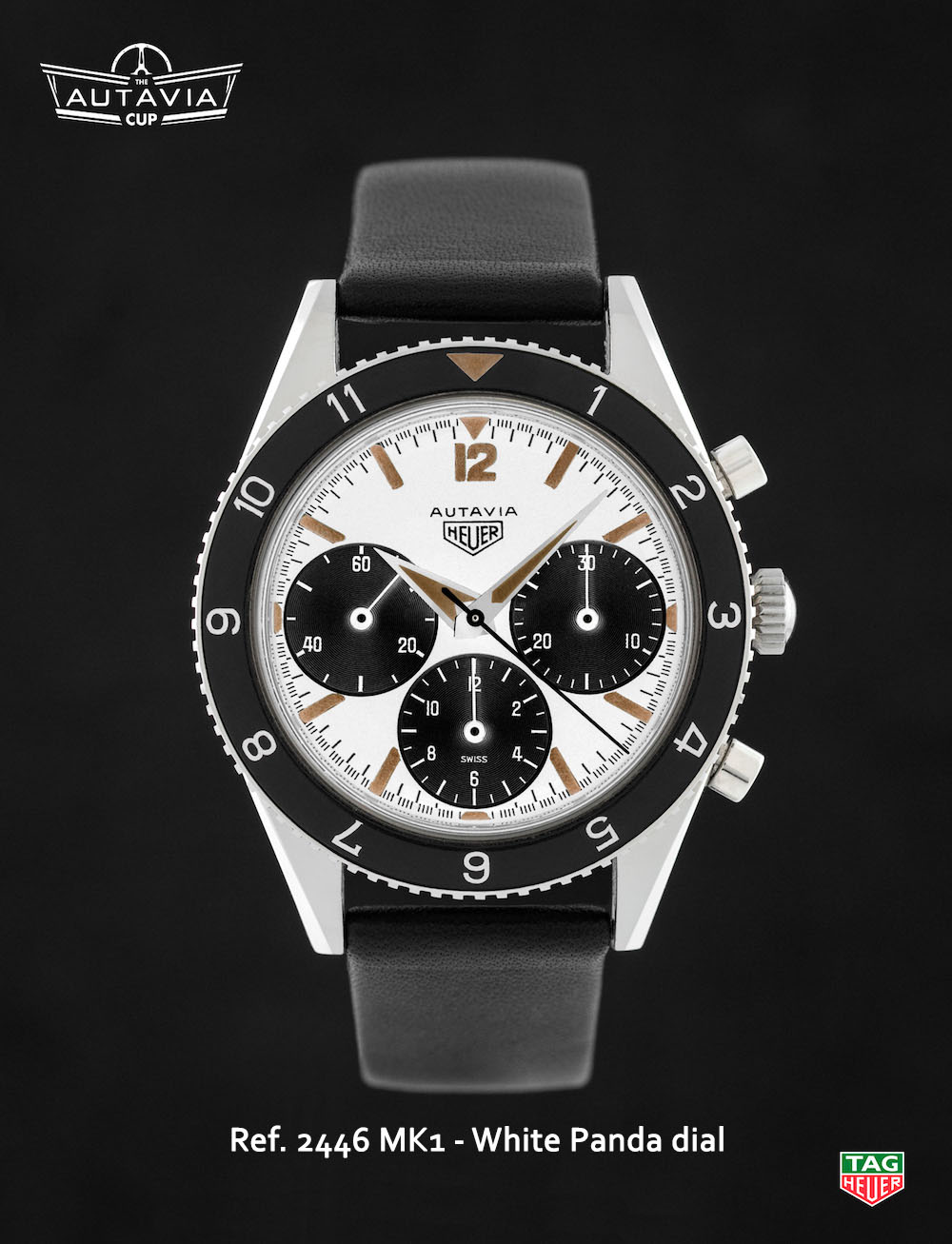 Tag heuer autavia the autavia cup 15 2446 mk1 sn monochrome watches for Tag heuer autavia isograph
