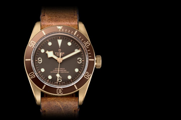 Tudor heritage black bay bronze 79250bm with larger case - Tudor dive watch price ...