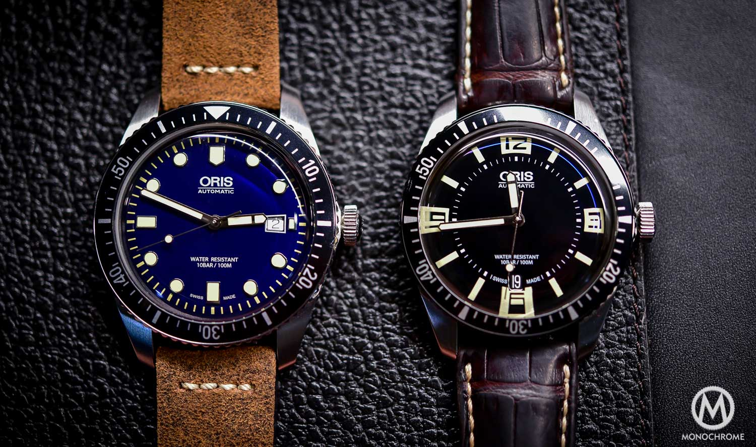 introducing oris divers sixty five now in 42mm with blue dial