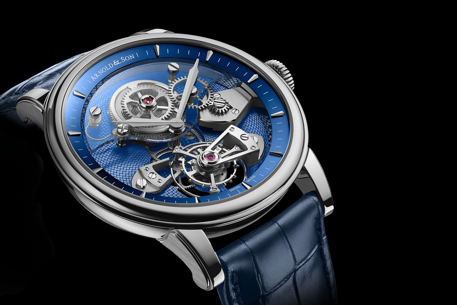 Introducing – Arnold and Son TES Tourbillon now with Blue Dial (specs & price)