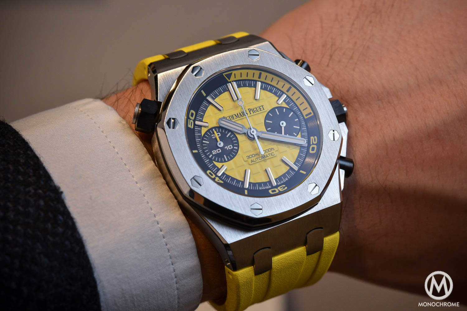 Spotted – Stanislas Wawrinka wearing the new Audemars Piguet Royal Oak Offshore Diver Chronograph at French Open 2016