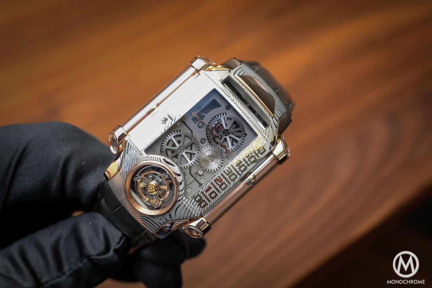 Hands-on - Christophe Claret X-Trem 1 in Damascus steel – tourbillon and magnetic display encased in an antique material