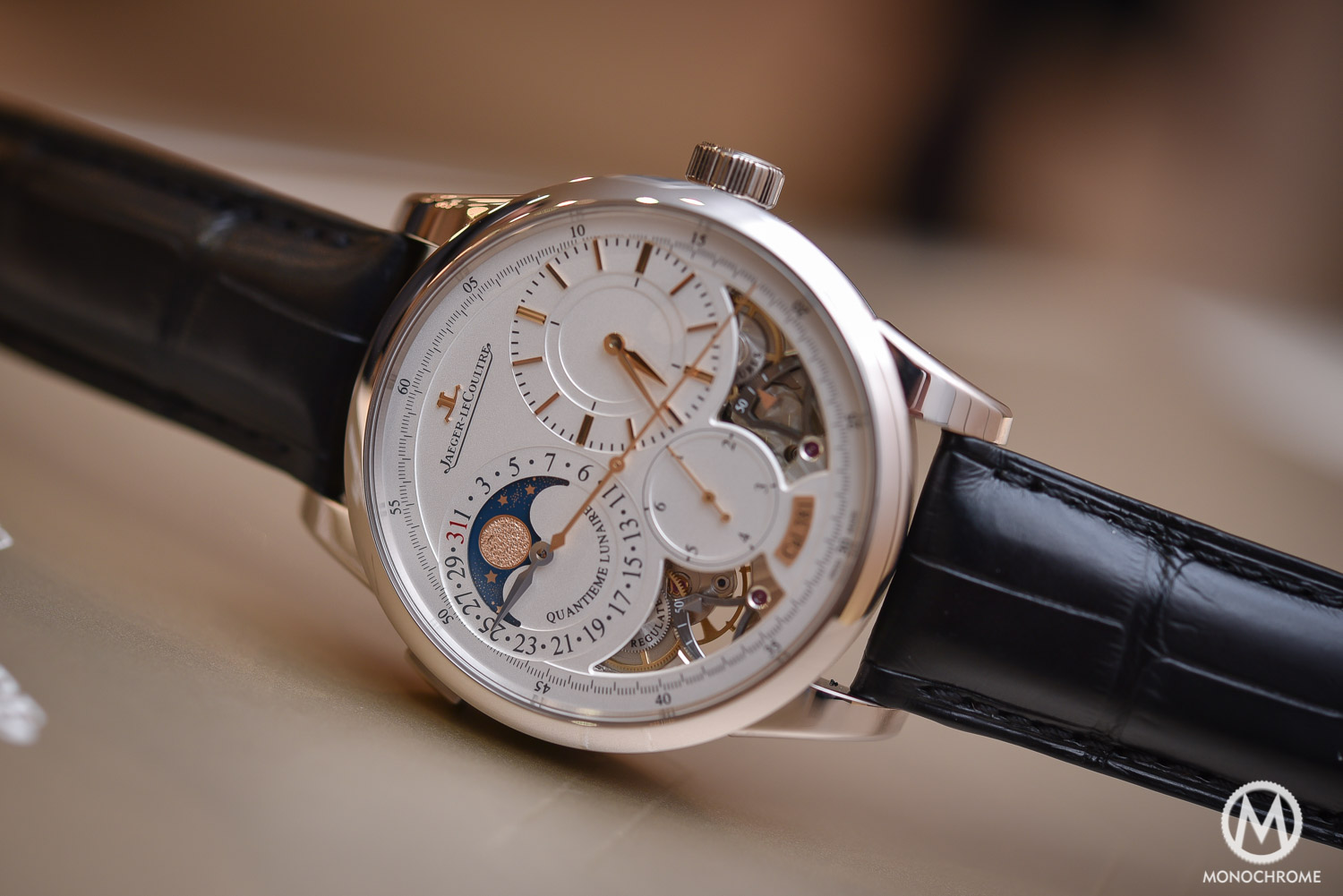 Jaeger-LeCoultre Duometre Quantieme Lunaire in white gold and opened dial - 1
