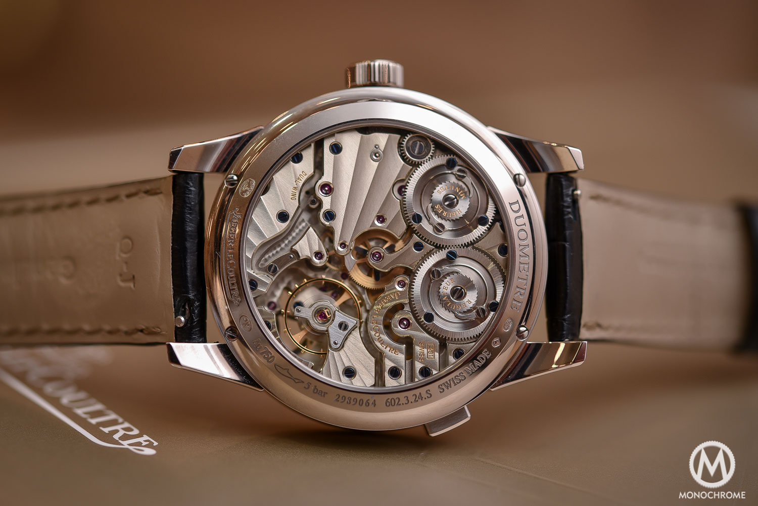 Jaeger-LeCoultre Duometre Quantieme Lunaire in white gold and opened dial - 3