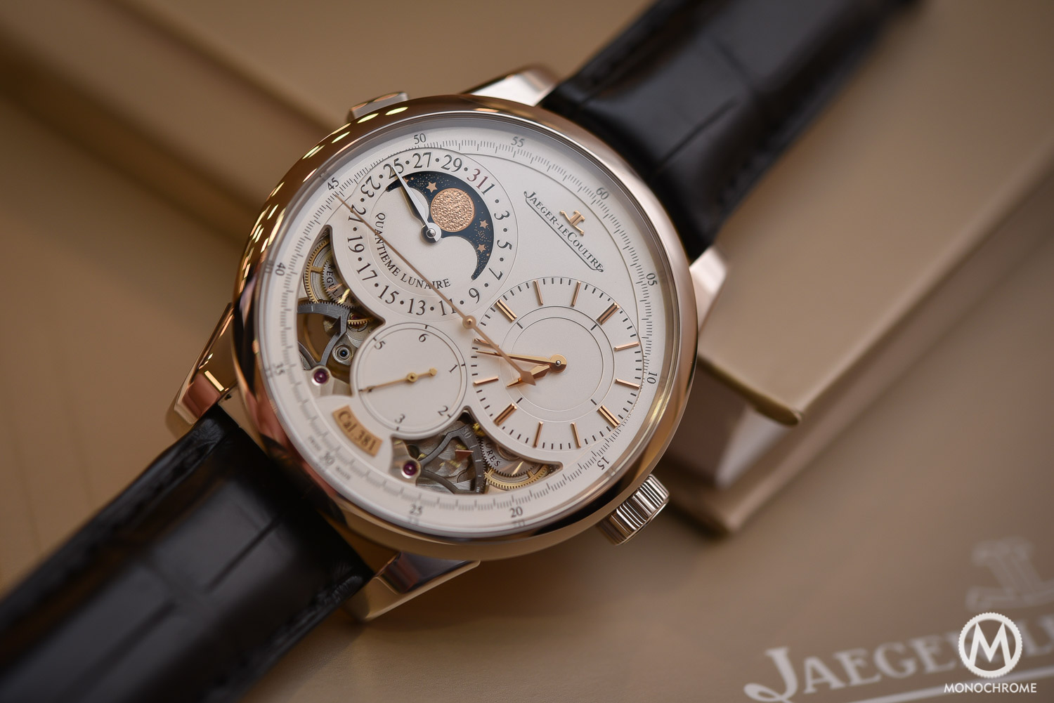 Jaeger-LeCoultre Duometre Quantieme Lunaire in white gold and opened dial - 5