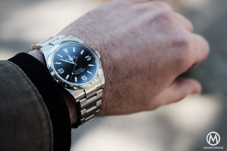 Watch marks on wrist - Rolex Explorer 214270 Pre 2016 Short Hands 1