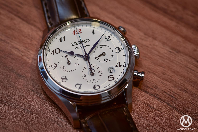 Los 7 Seikos que hay que tener según Watchuseek Seiko-Presage-60th-Anniversary-Chronograph-white-enamel-dial-3