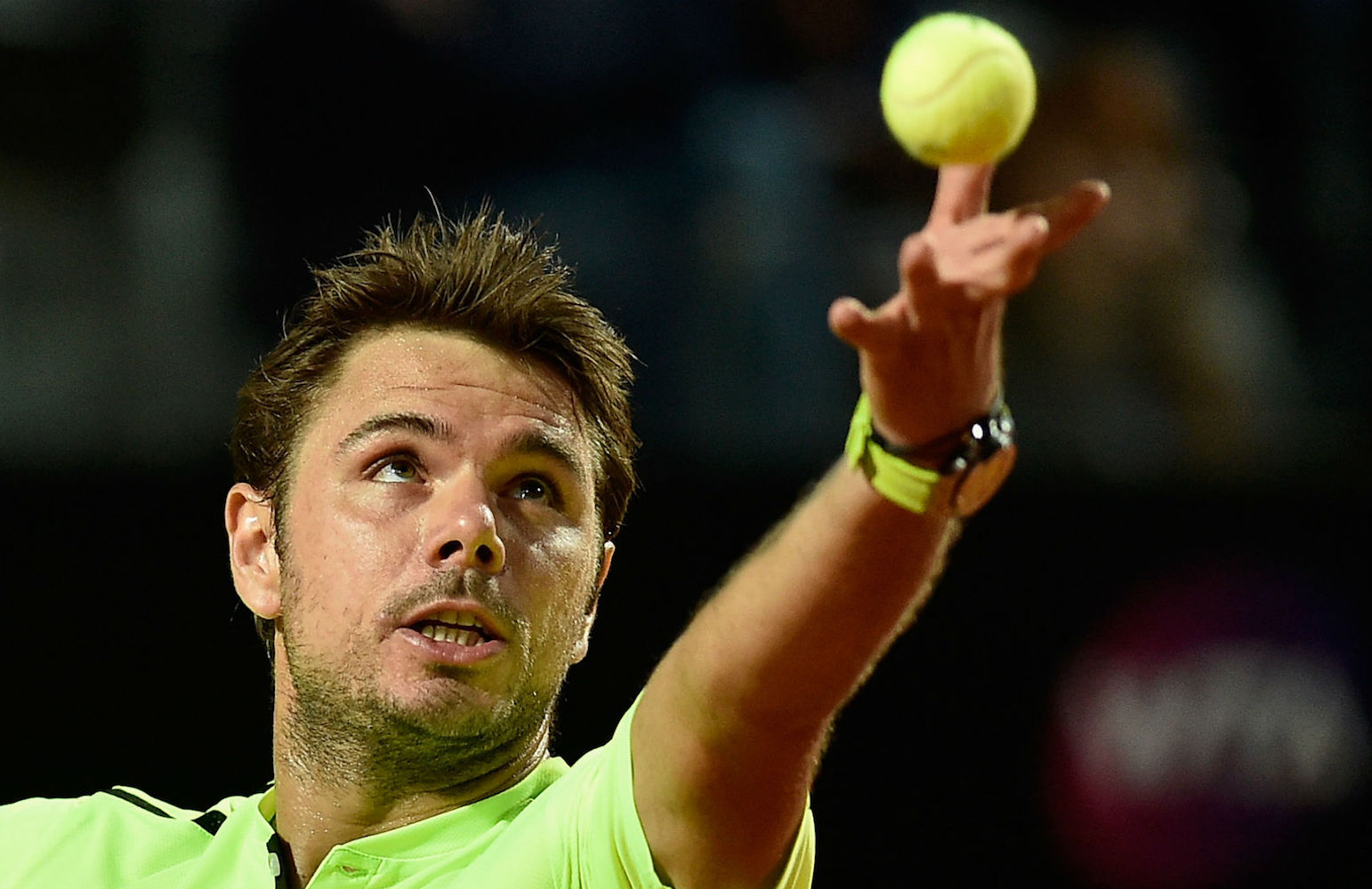 Stanislas Wawrinka wearing the new Audemars Piguet Royal Oak Offshore Diver Chronograph at Roland Garros 2016