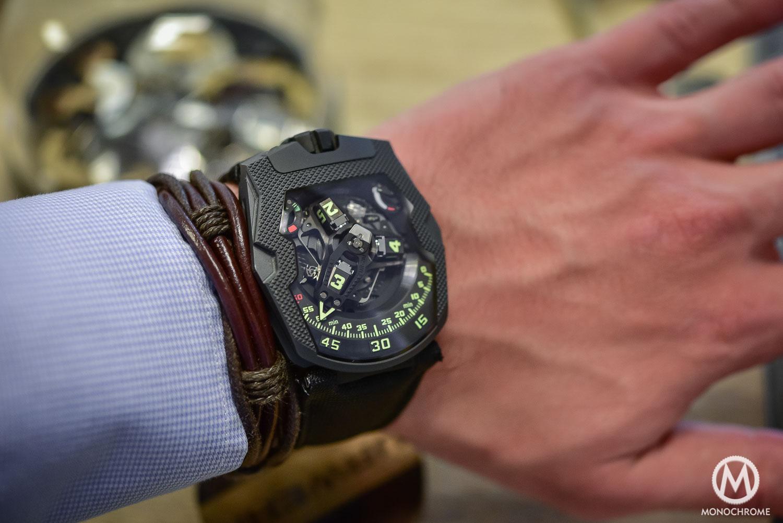 Hands-On Review – URWERK UR-210 CP with Clou de Paris engraved case (live pics, specs & price)