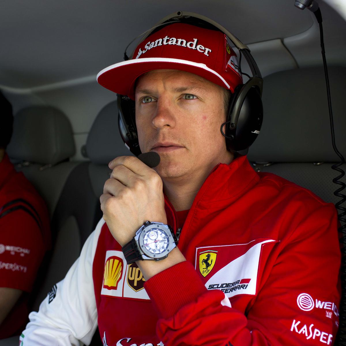 Kimi Raikkonen Hublot Ferrari