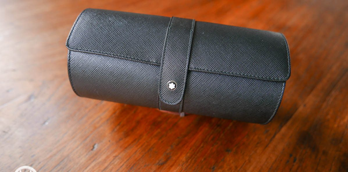 Give Away Montblanc Travel Watch Roll For 2 Watches