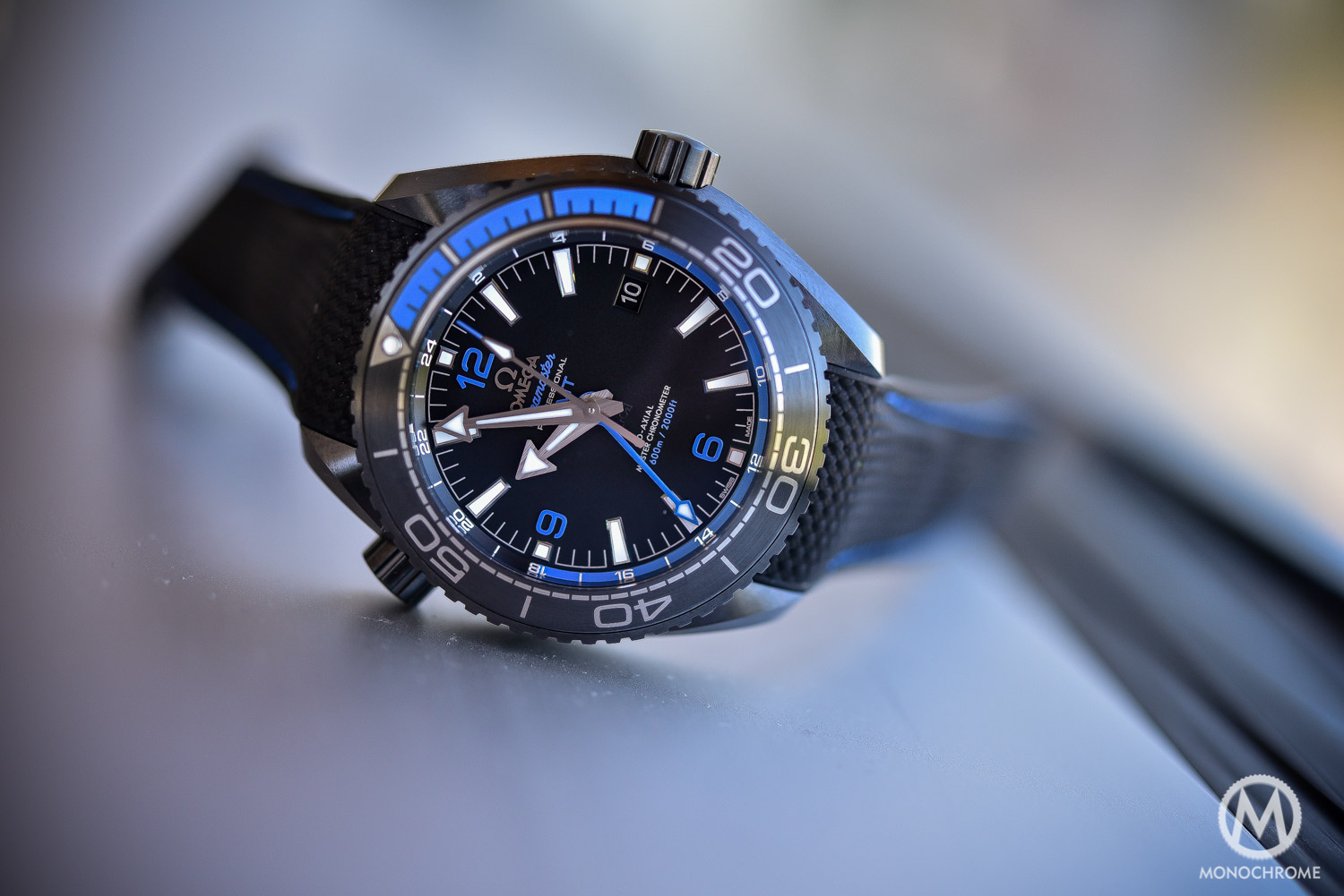 Omega Seamaster Planet Ocean Deep Black - Black Blue