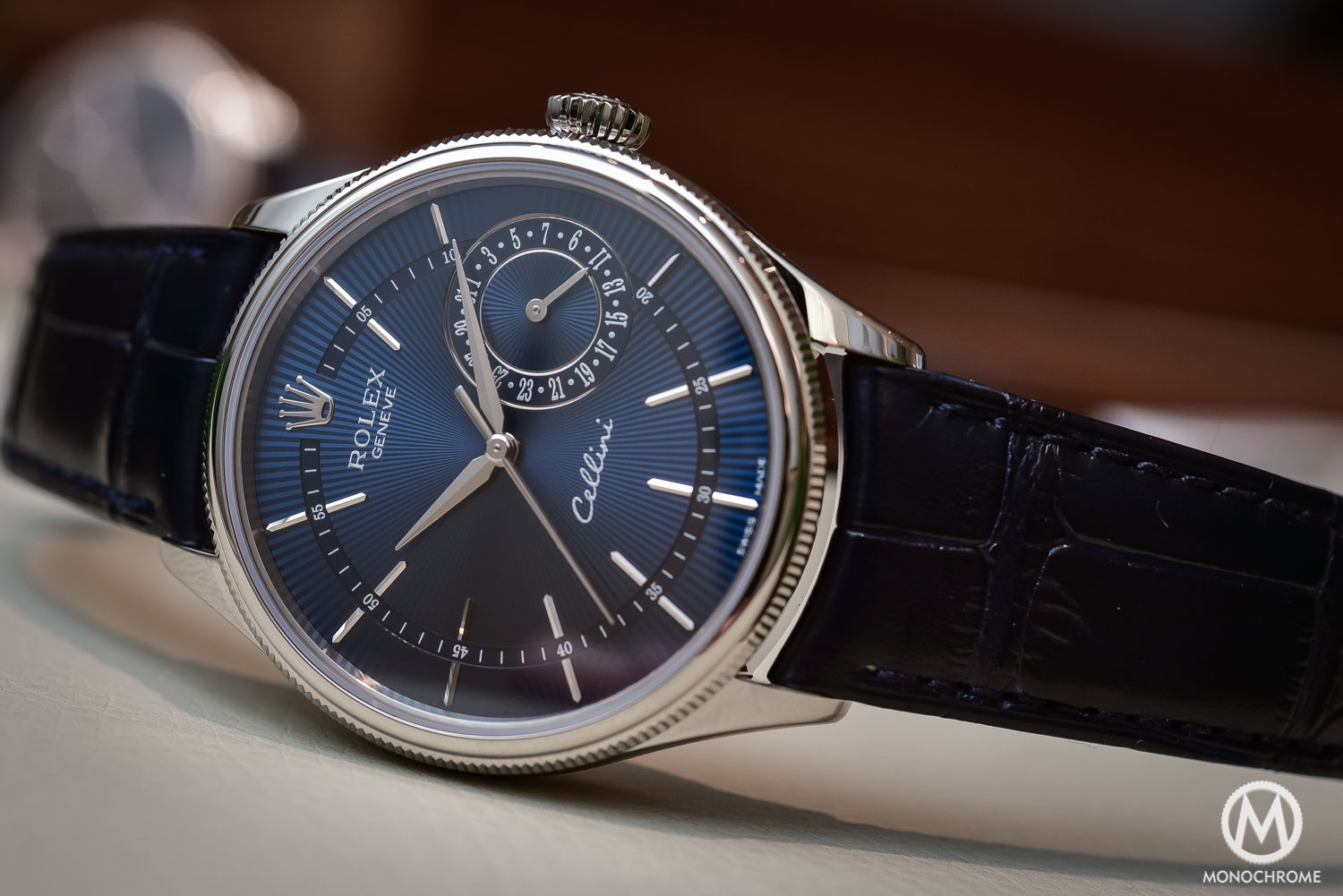 Hands on new rolex cellini 2016 editions including the brown dual time and the blue date for Rolex cellini
