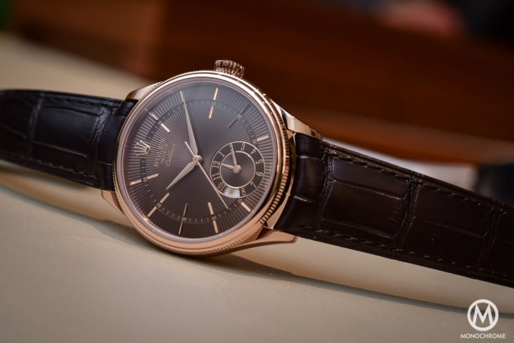 Rolex Cellini Dual Time Brown Dial everose gold 2016