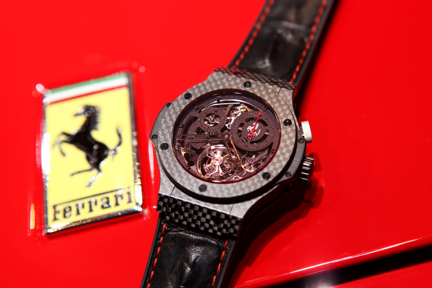 men jomashop dial chronograph watch leather scuderia ferrari mens watches black s