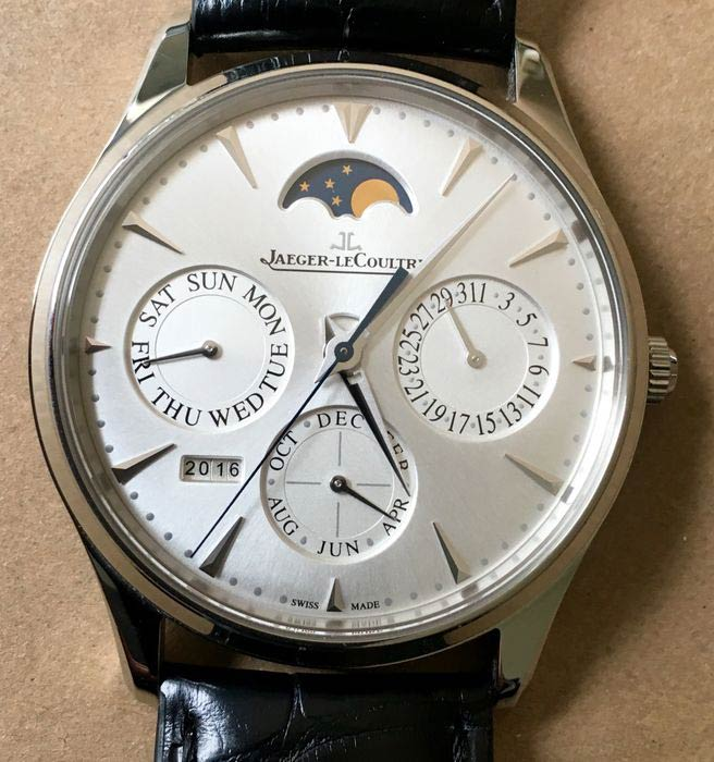 Perpetual Calendar Watch >> 5 Cool Finds: An old IWC Mark X, a GP Rattrapante, a Jaeger-LeCoultre Master Perpetual and two ...