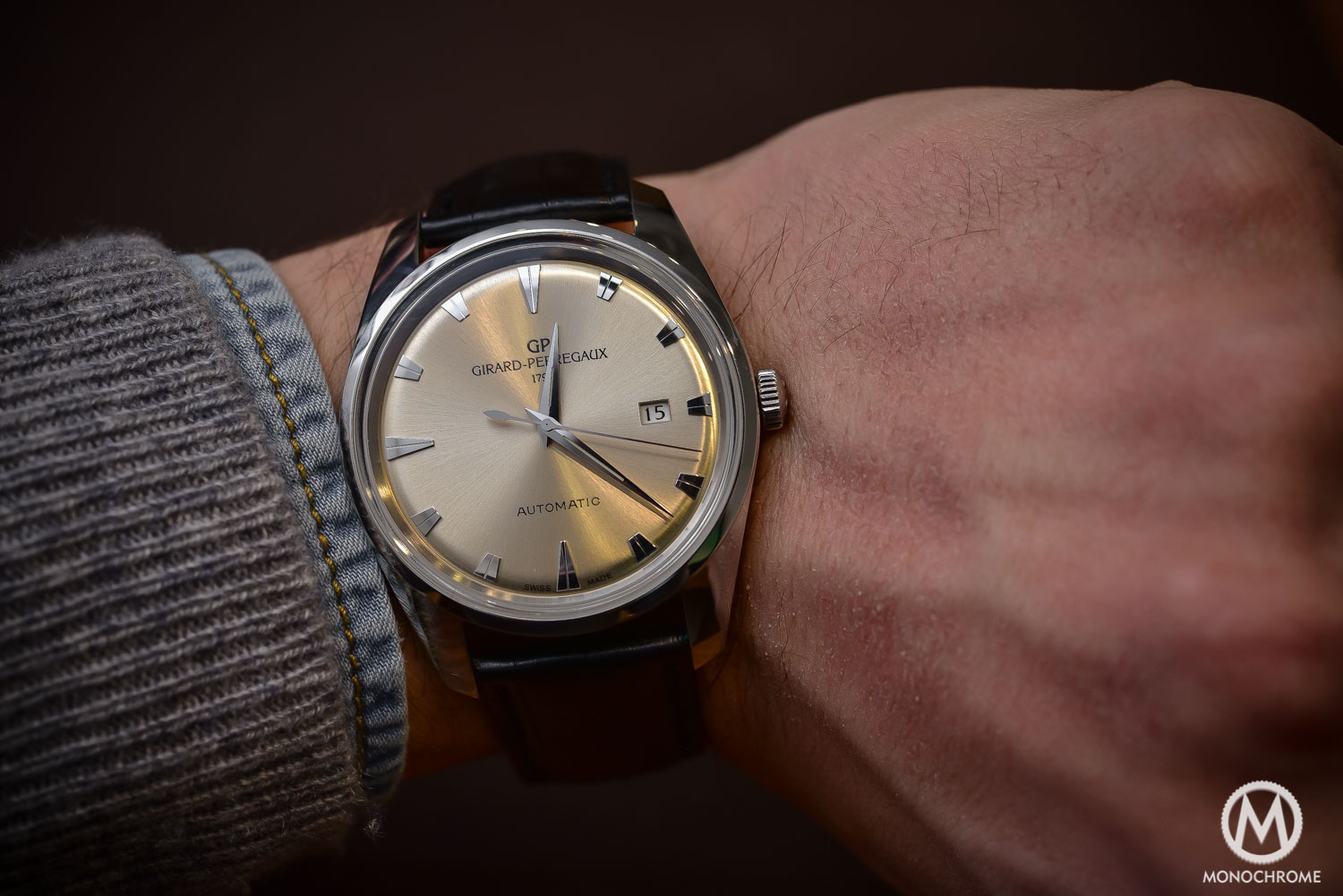 Hands on girard perregaux 1957 tribute to the gyromatic is it really live photos for Girard perregaux