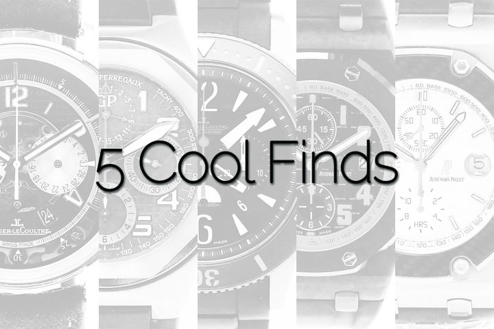 5 Cool Finds Chronext sports luxury chronographs