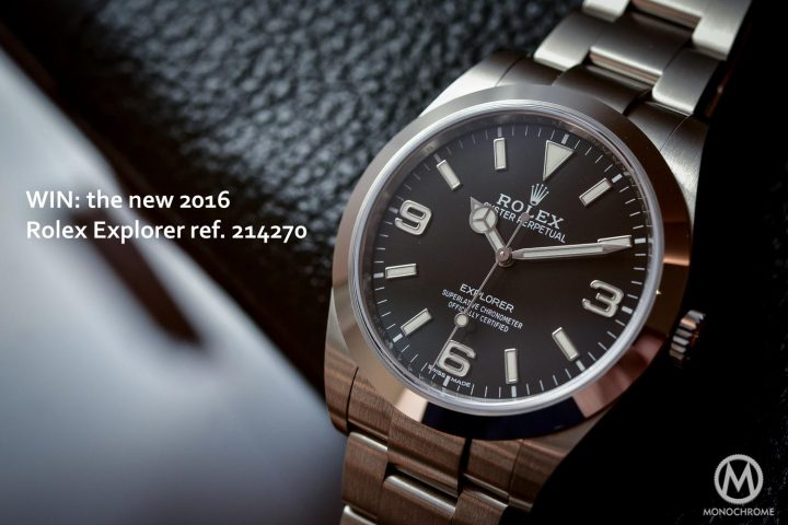 GIVE AWAY: Win a Rolex Explorer at CHRONEXT