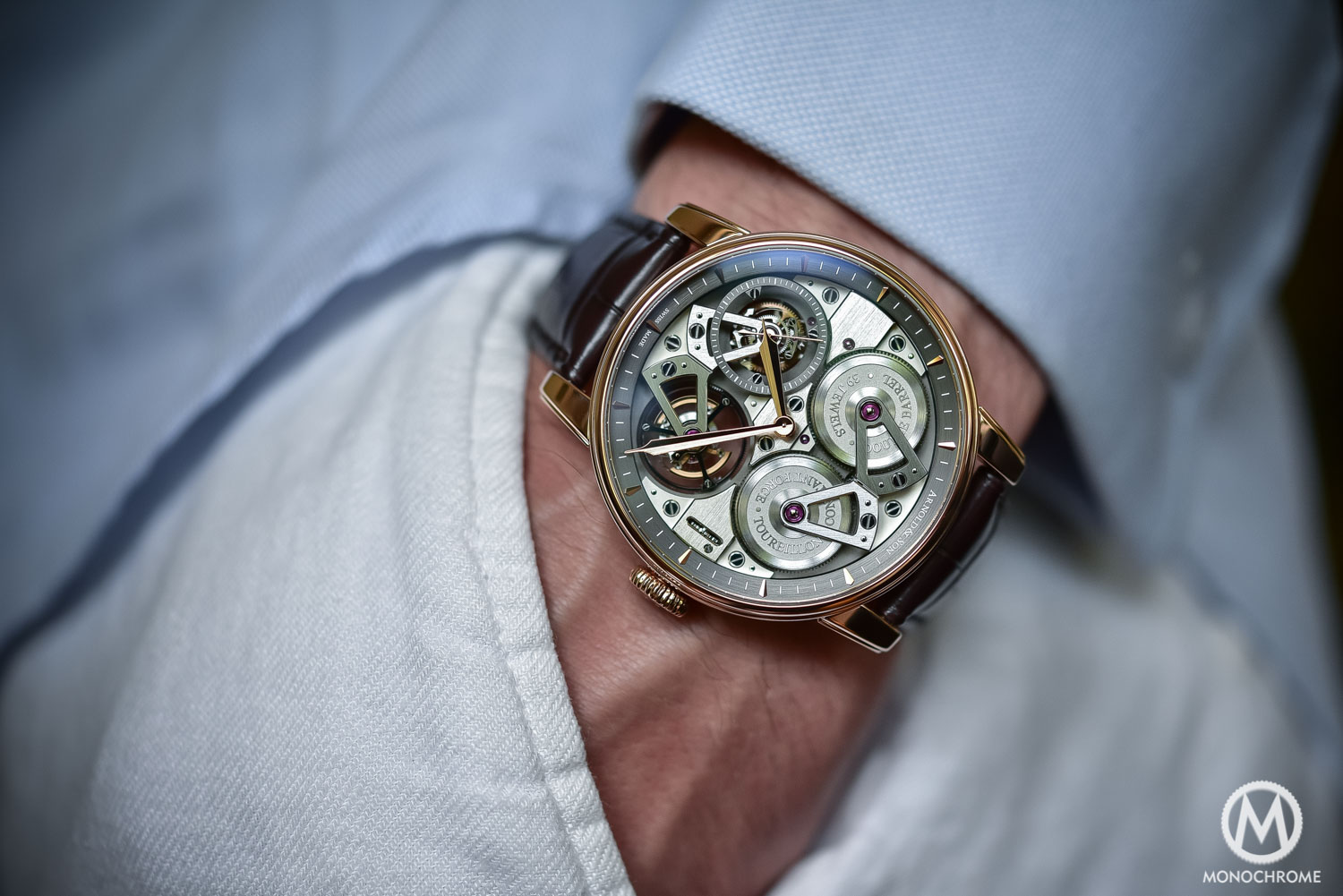 Arnold and Son Constant Force Tourbillon - Wristshot