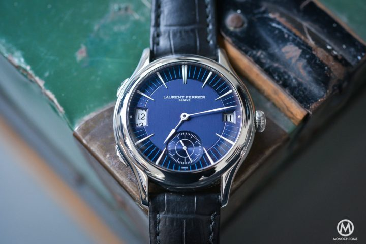 Laurent Ferrier Galet Traveller - White Gold Blue Dial