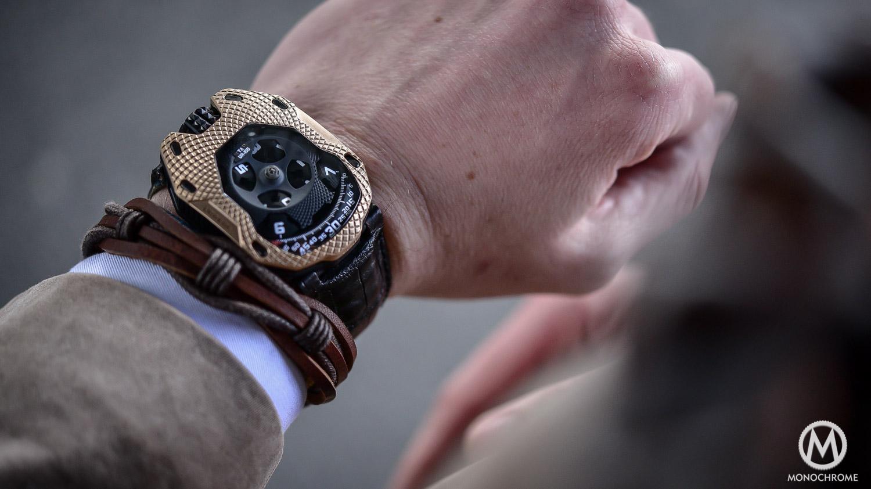 Hands-on with the brand new URWERK UR-105 Raging Gold
