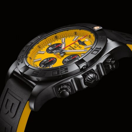 yellow dial Breitling Chronomat 44 Blacksteel replica