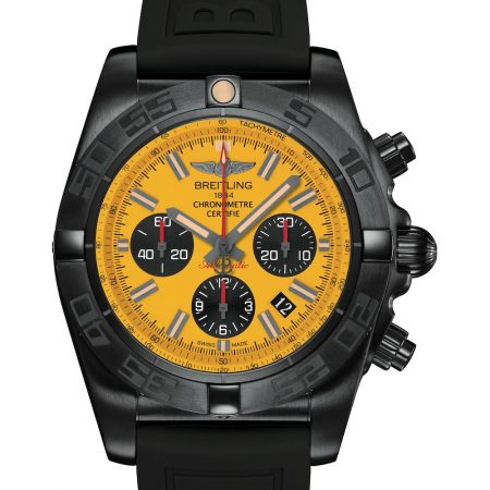 Breitling Chronomat Blacksteel yellow dial replica
