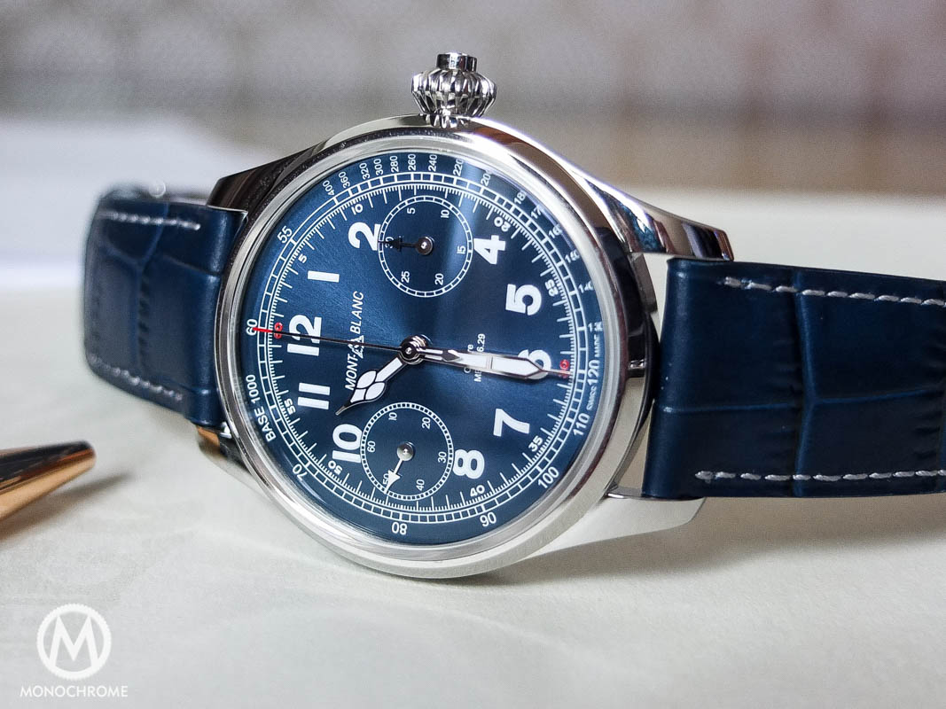 montblanc-1858-chronograph-tachymeter-steel-blue-dial-2
