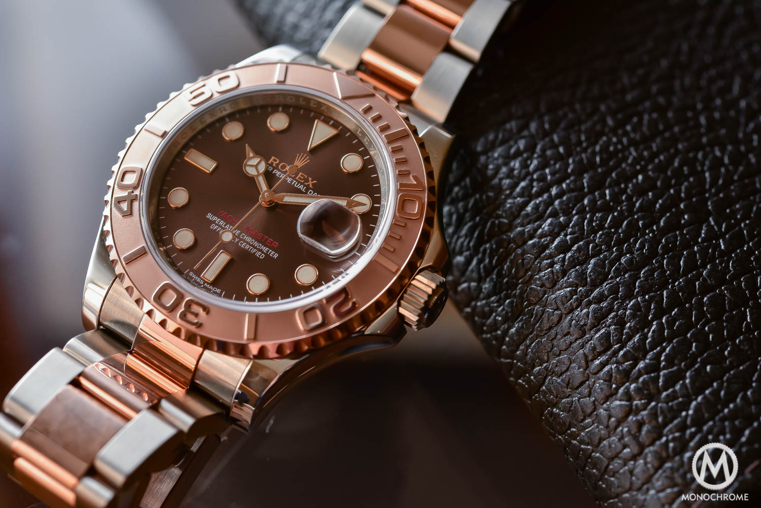 Rolex yachtmaster rose gold two tone