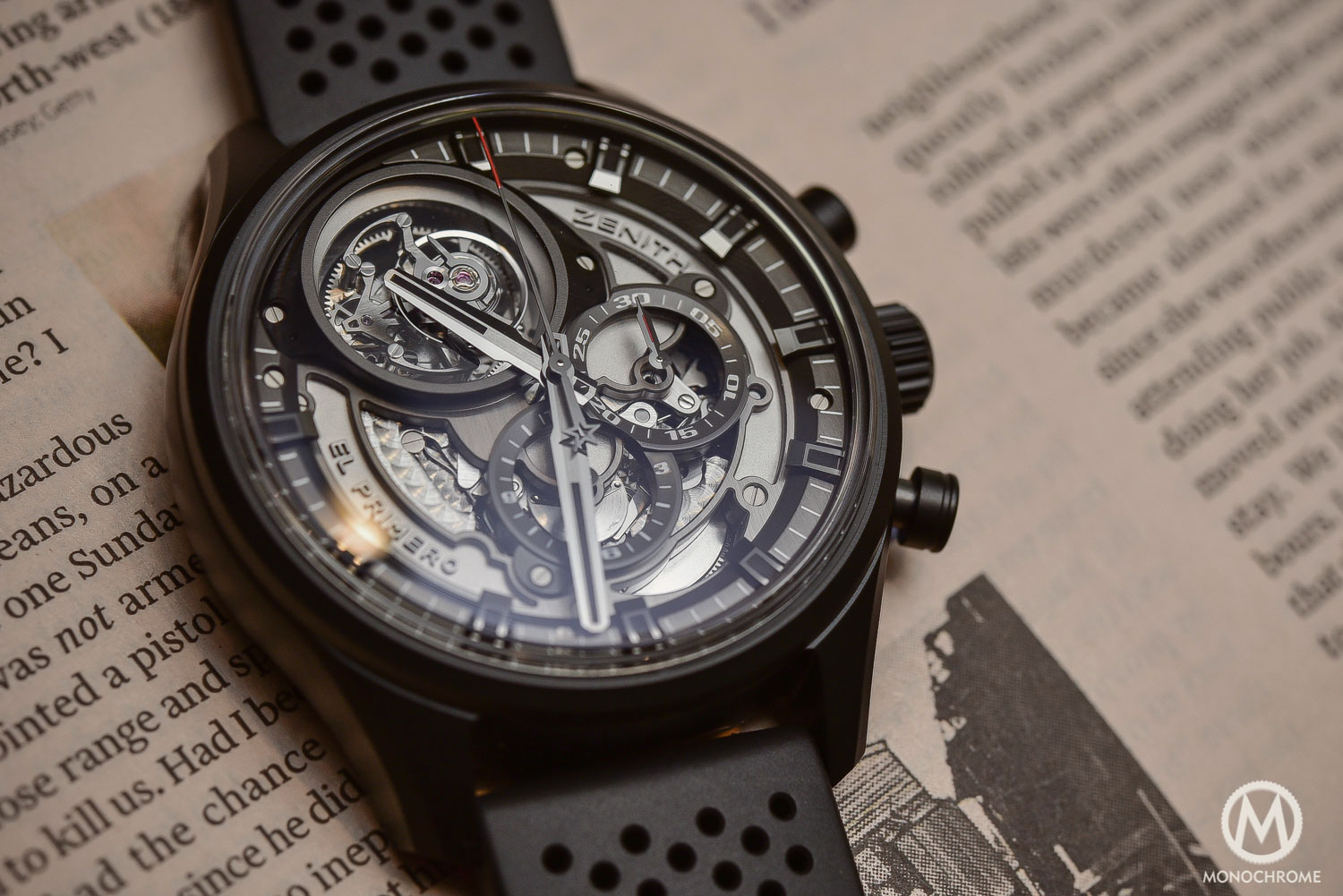 hands on with the zenith el primero tourbillon skeleton specs pice. Black Bedroom Furniture Sets. Home Design Ideas
