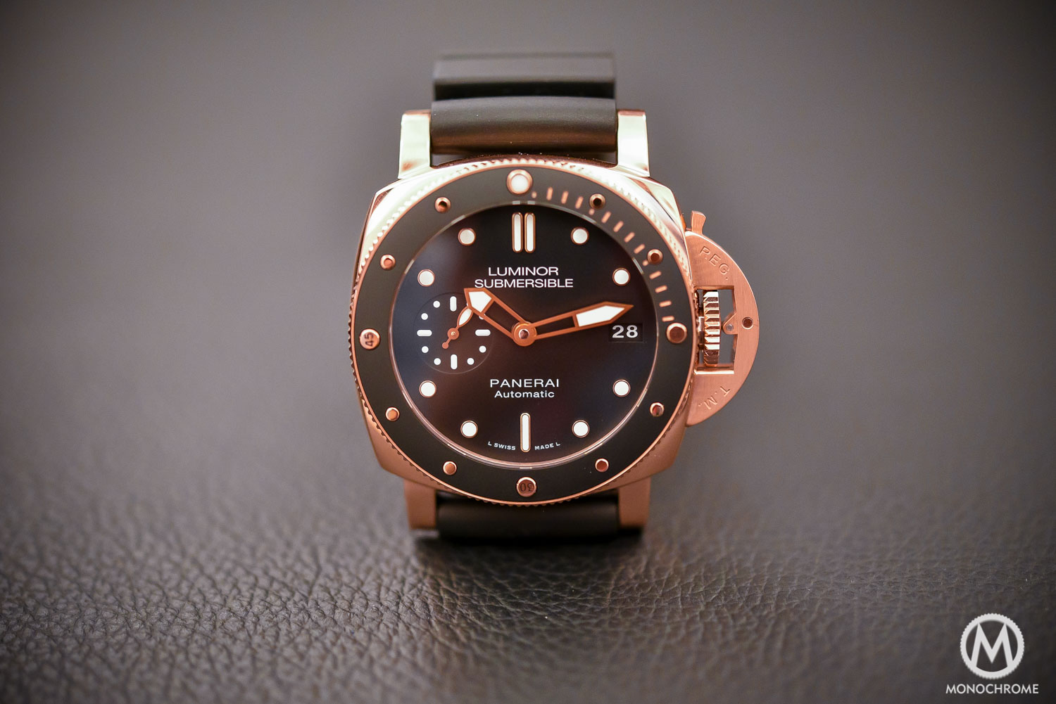aesthetics series you over elegant replica two crown bridge couple gold watches choose fake red line the panerai with carries perfect are luminor three classic design for due in kinds of