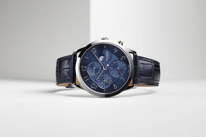 Slim d'Hermès Quantième Perpétuel Platine - pre-Baselworld 2017