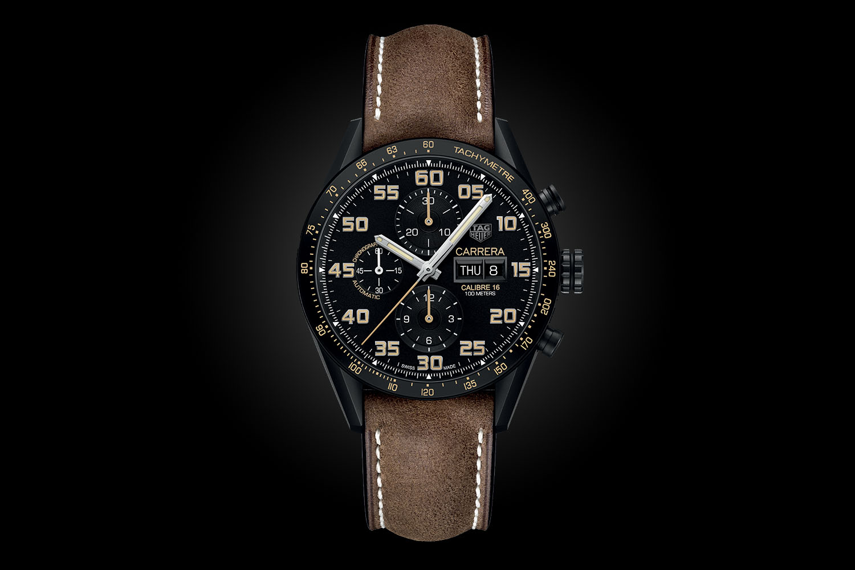 28131fb83c3 Introducing the TAG Heuer Carrera Calibre 16 Chrono Black Titanium