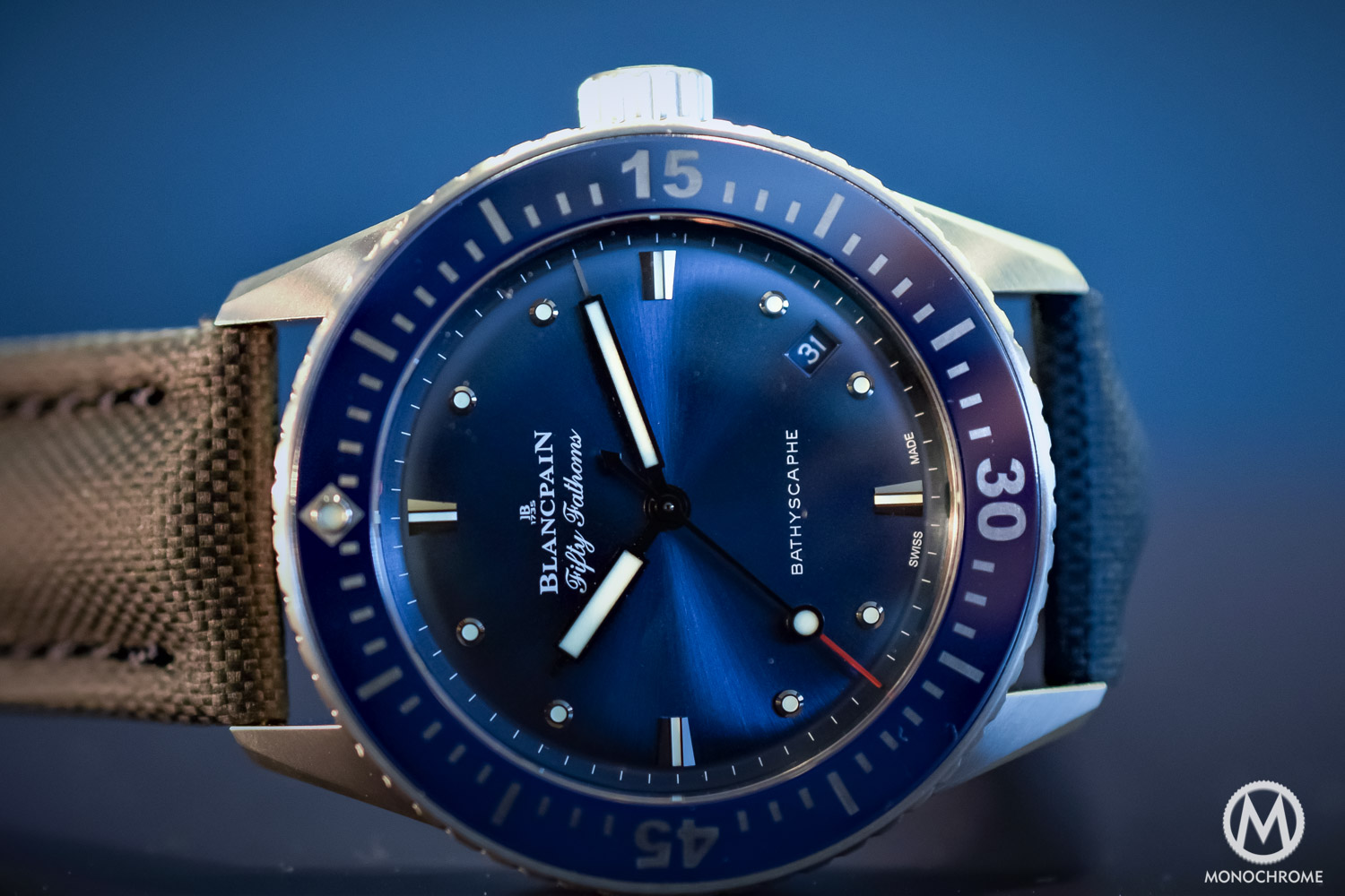 Blancpain fifty fathoms bathyscaphe 38mm blancpain ocean commitment for Watches 38mm