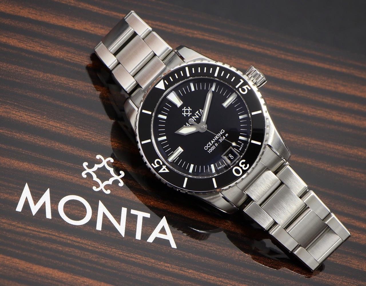 Introducing monta oceanking dive watch with eterna - Oceanic dive watch ...