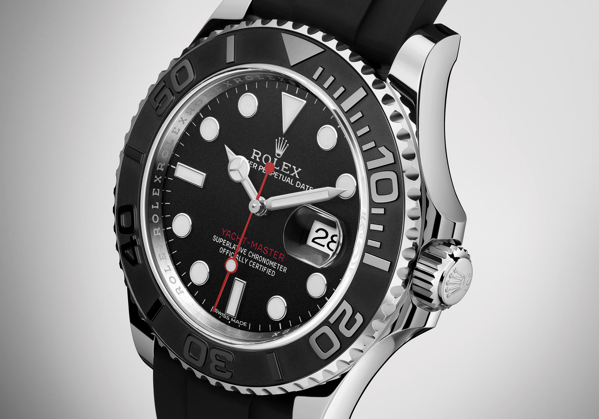 Rolex Yacht Master Steel Ceramic Bezel Black Dial Rubber - Rolex Baselworld 2017 - Rolex Predictions 2017