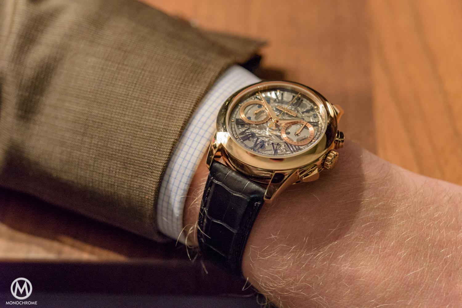 REVIEW – The Ateliers deMonaco Admiral Chronograph Flyback Saphir