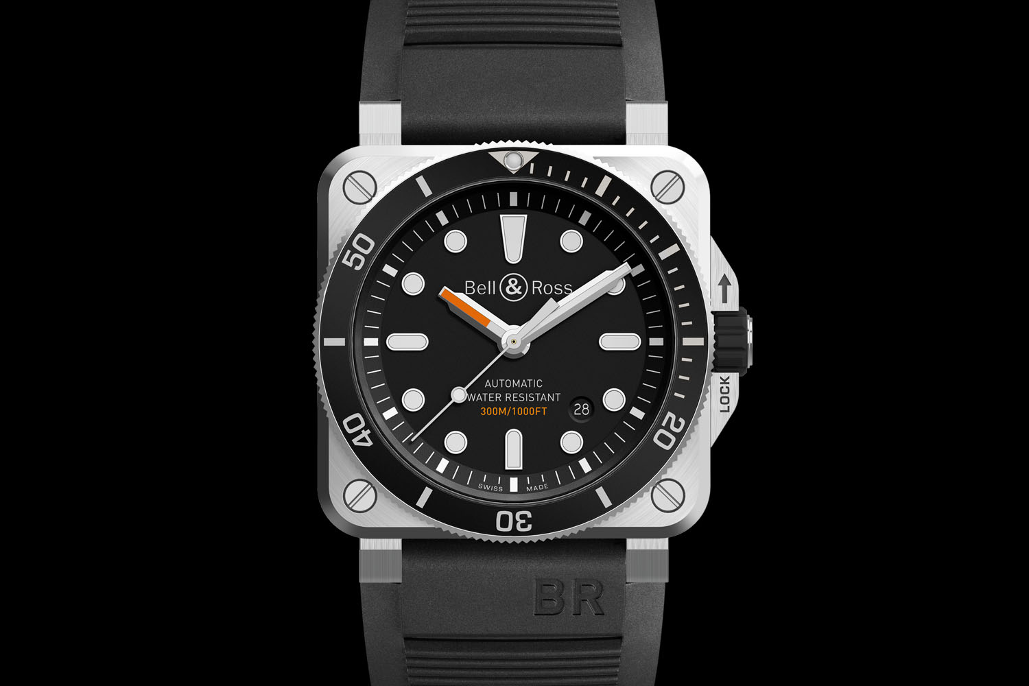 bell ross br03 92 diver the first square dive watch. Black Bedroom Furniture Sets. Home Design Ideas