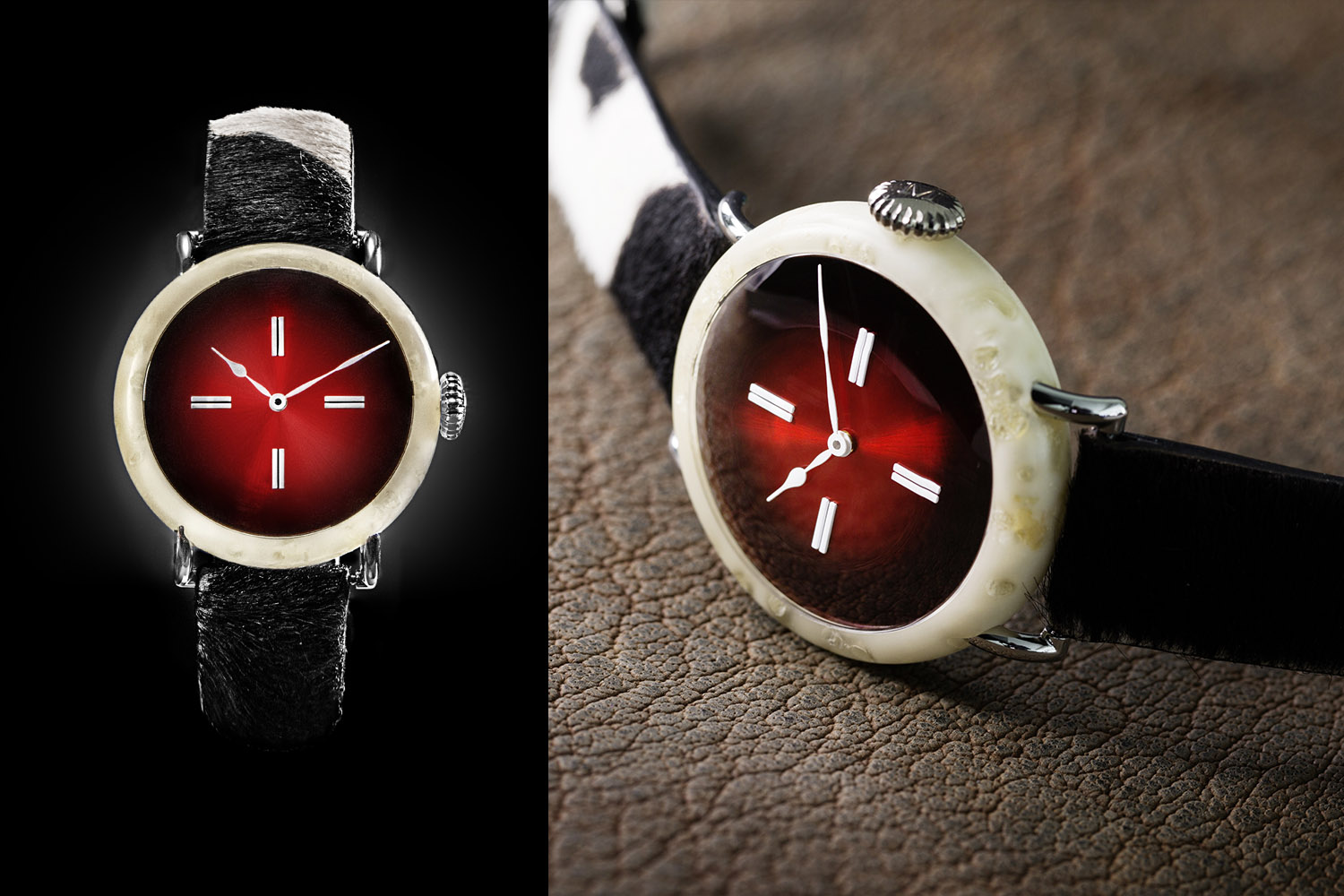 Christie's To Auction H. Moser & Cie. Cheese Swiss Mad Watch and Swiss Alp Watch Prototype (To Promote Swiss Watchmaking)