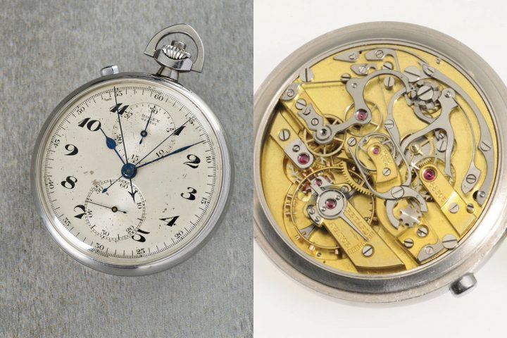 Rolex rattrapante chronograph pocket watch - Dr Crott Auctions