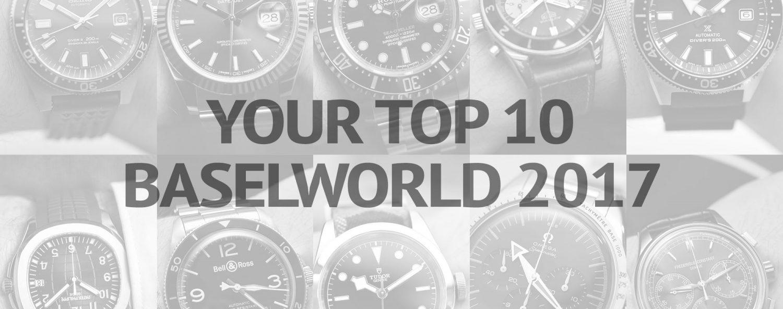 Top 10 Baselworld 2017 readers