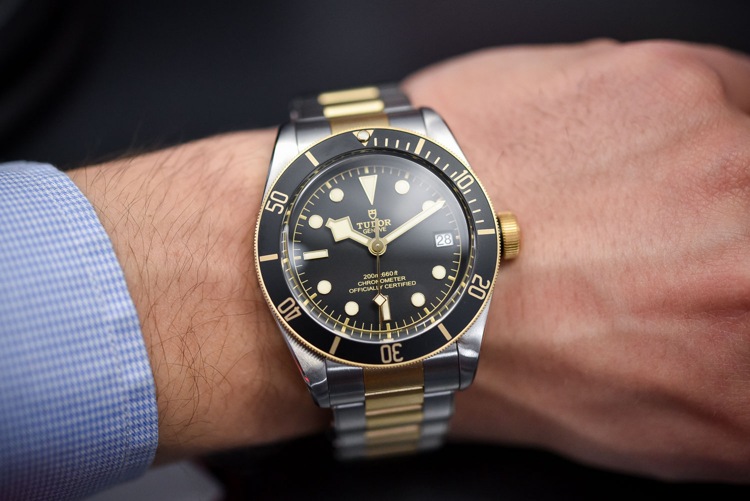 Tudor Heritage Black Bay Steel and Gold date - top 10 Baselworld 2017