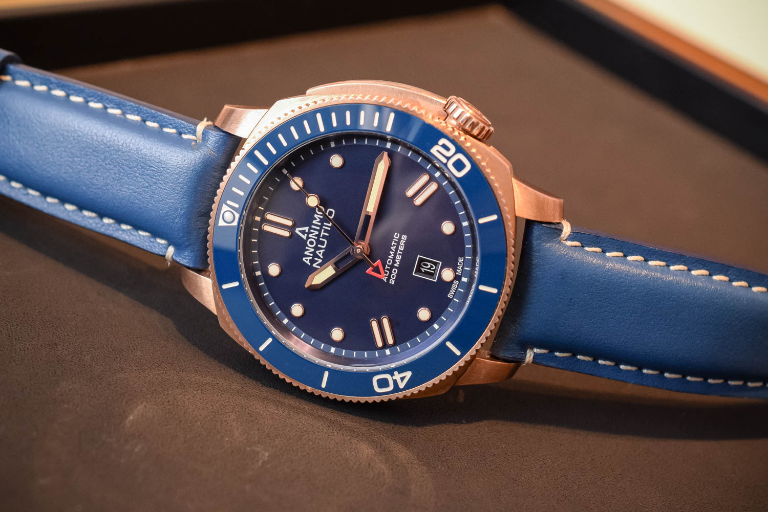 new anonimo nautilo bronze blue the dive watch connection