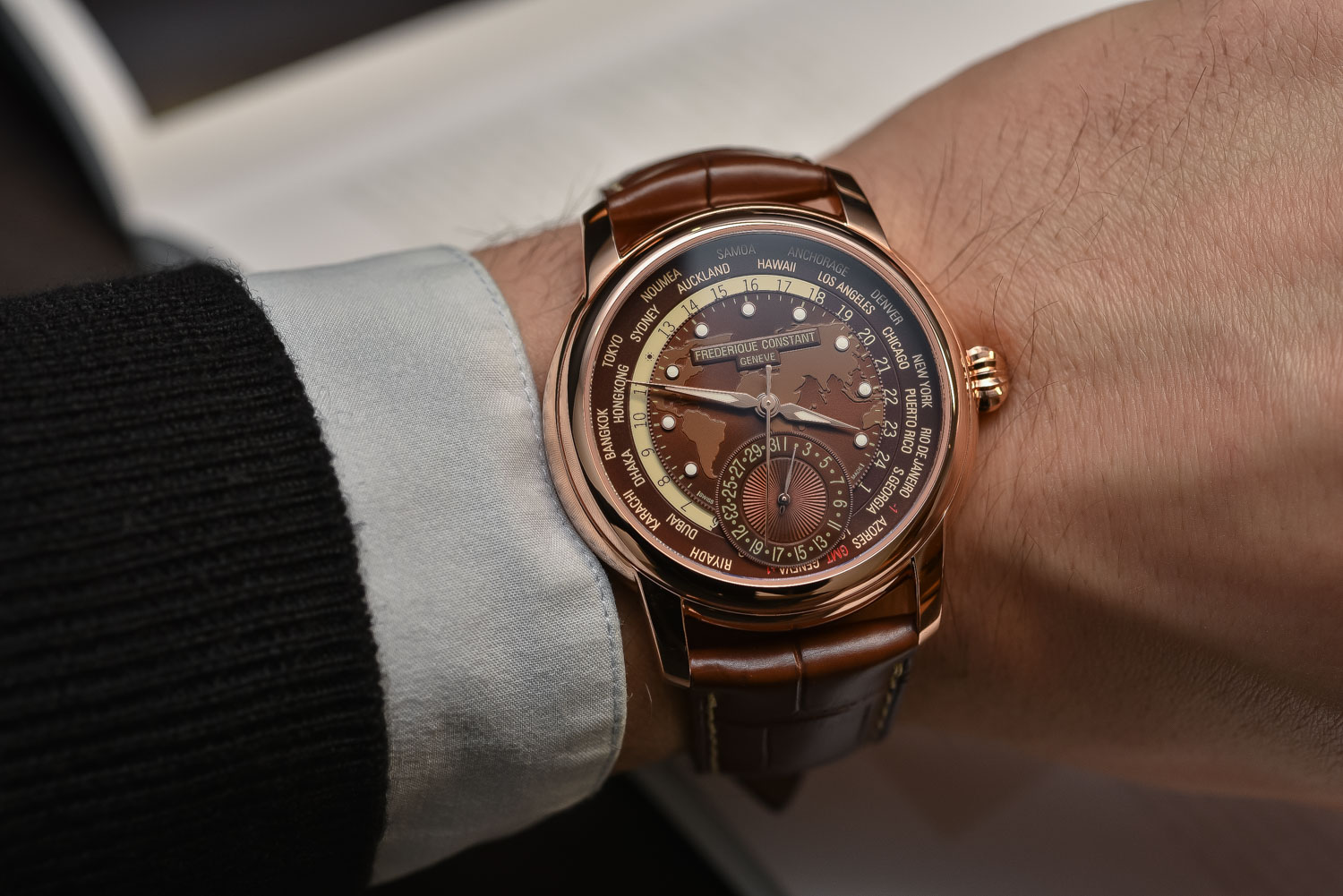 Most Expensive Watch In The World With Price >> Frederique Constant Classic Worldtimer Manufacture Brown ...