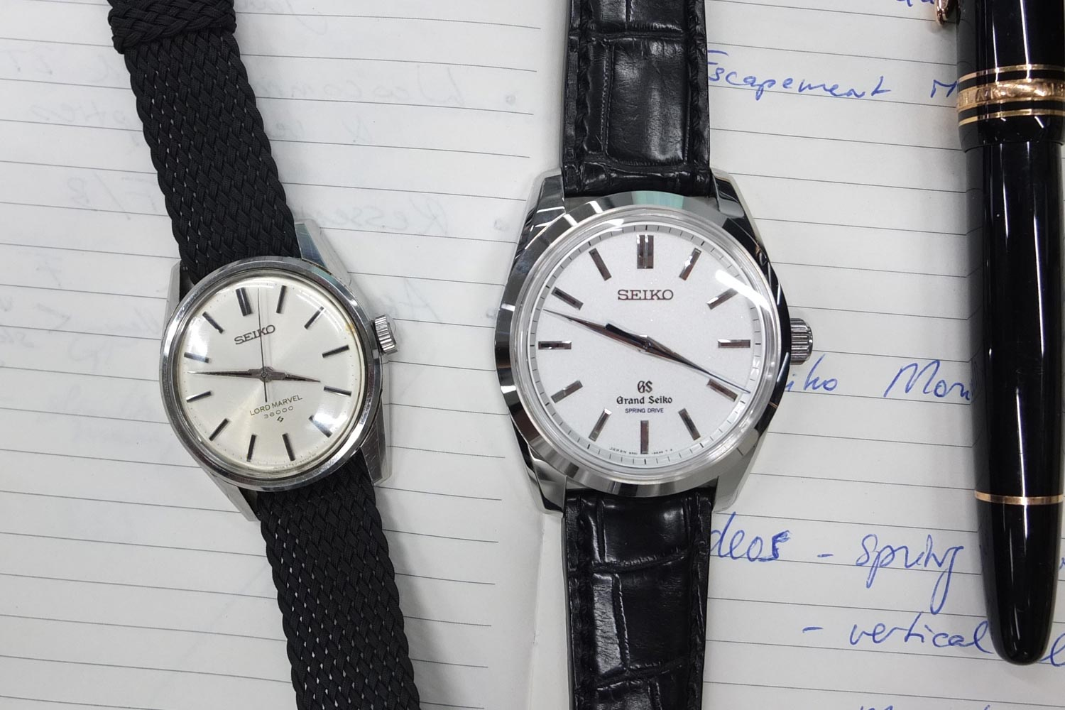 Grand Seiko SBGD201 + Seiko Lord Marvel 36000