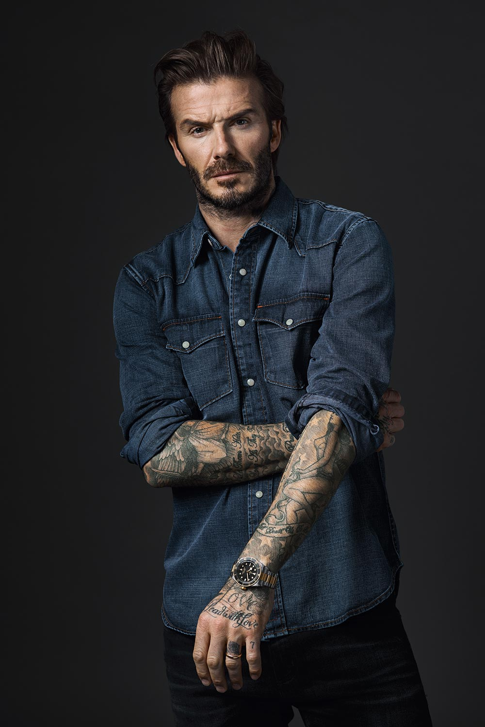 Tudor announces david beckham as new brand and borntodare campaign ambassador monochrome watches for David beckham