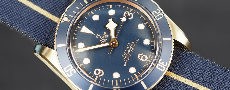 Tudor Heritage Black Bronze Blue Bucherer