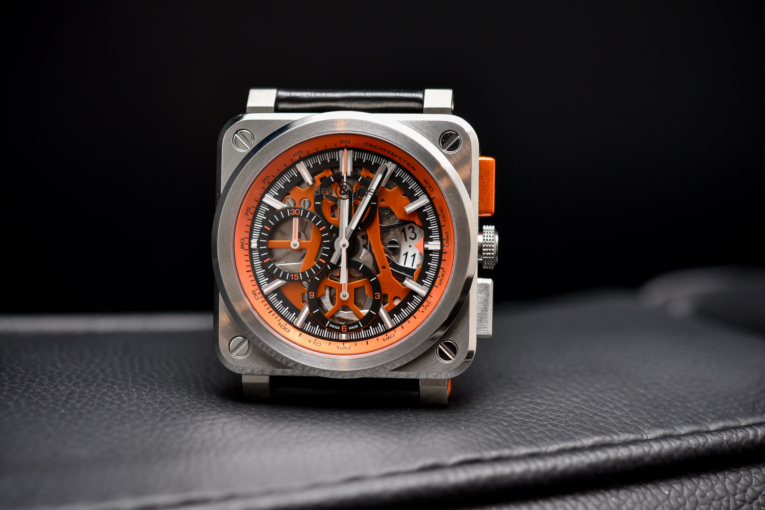Bell & Ross BR03-94 AeroGT Orange Skeleton Chronograph